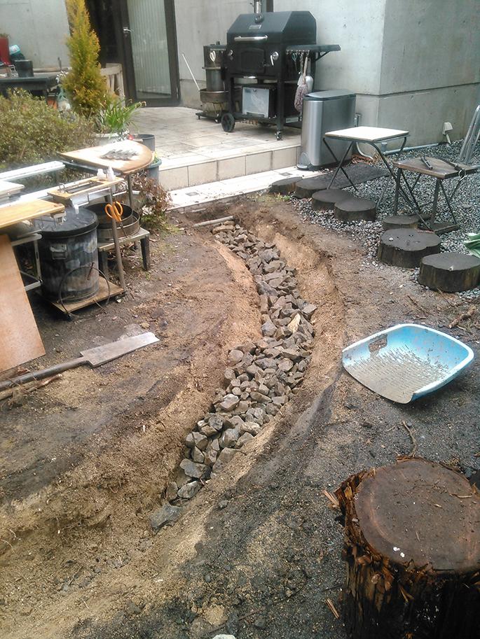 デザインと機能性、お庭の部分改修